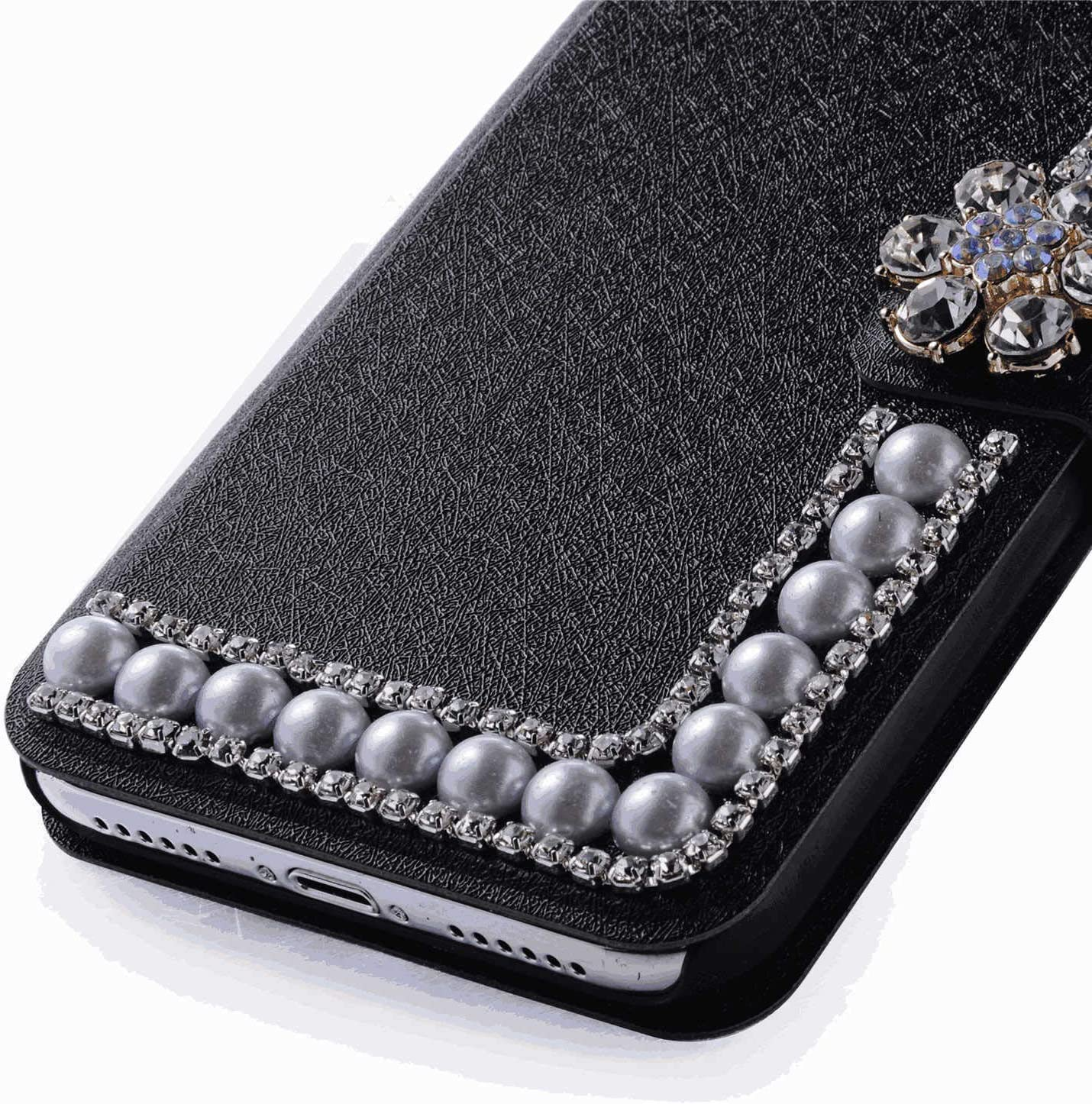 Leather Flip Case for Samsung Galaxy S10e Wallet Cover with Viewing Stand and Card Slots Bussiness Phone Case with Free Waterproof Case