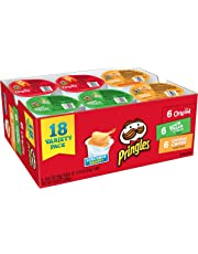 Pringles Snack Stacks Potato Crisps Chips, Flavored Variety Pack, Original, Cheddar Cheese, and Sour Cream and Onion, 12.9 oz (18 Cups)