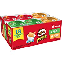 18-Count Pringles Snack Stacks Potato Crisps Chips Variety Pack, 12.9 Ounce