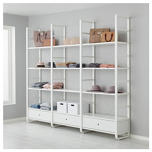 IKEA ELVARLI - 3 secciones Blanco / bambú: Amazon.es: Hogar