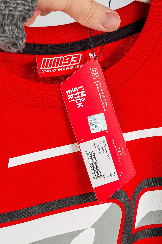 Marc Marquez 2019 MotoGP T-Shirt pour Homme Logo 93 Rouge Tailles S-XXXL