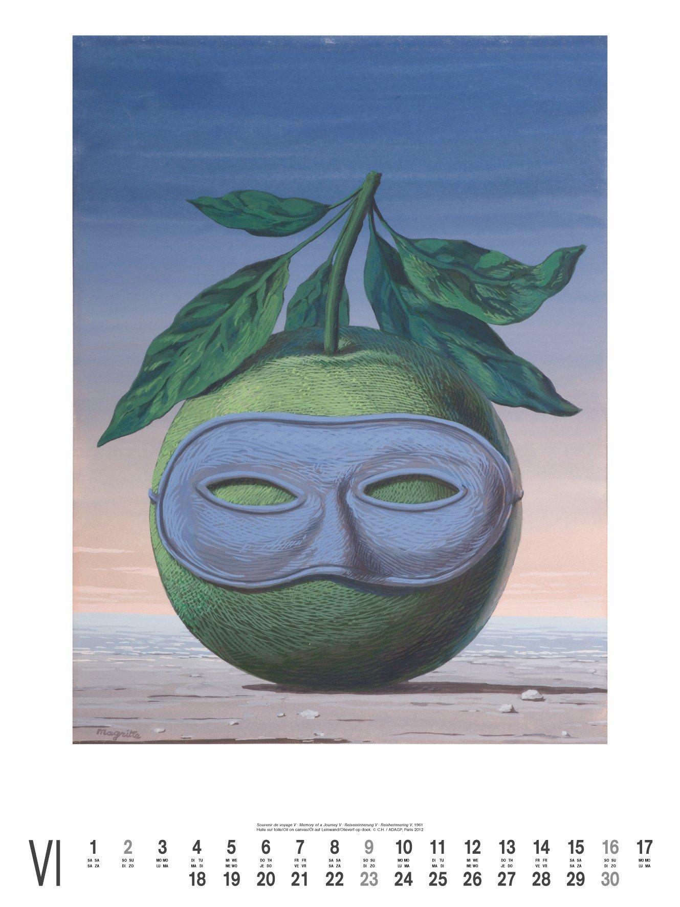 2012 Magritte  Super Poster Calendar