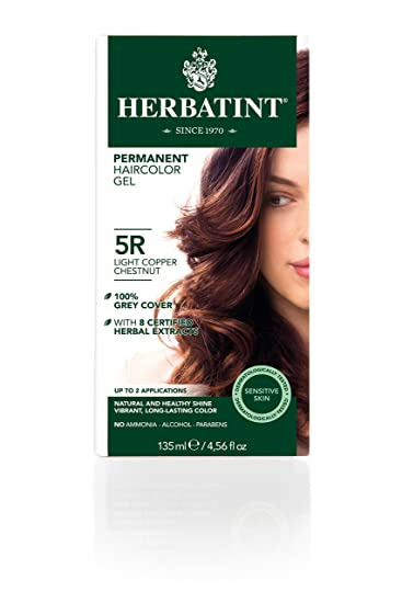 Amazon.com : Herbatint Permanent Herbal Haircolor Gel, Light Copper ...