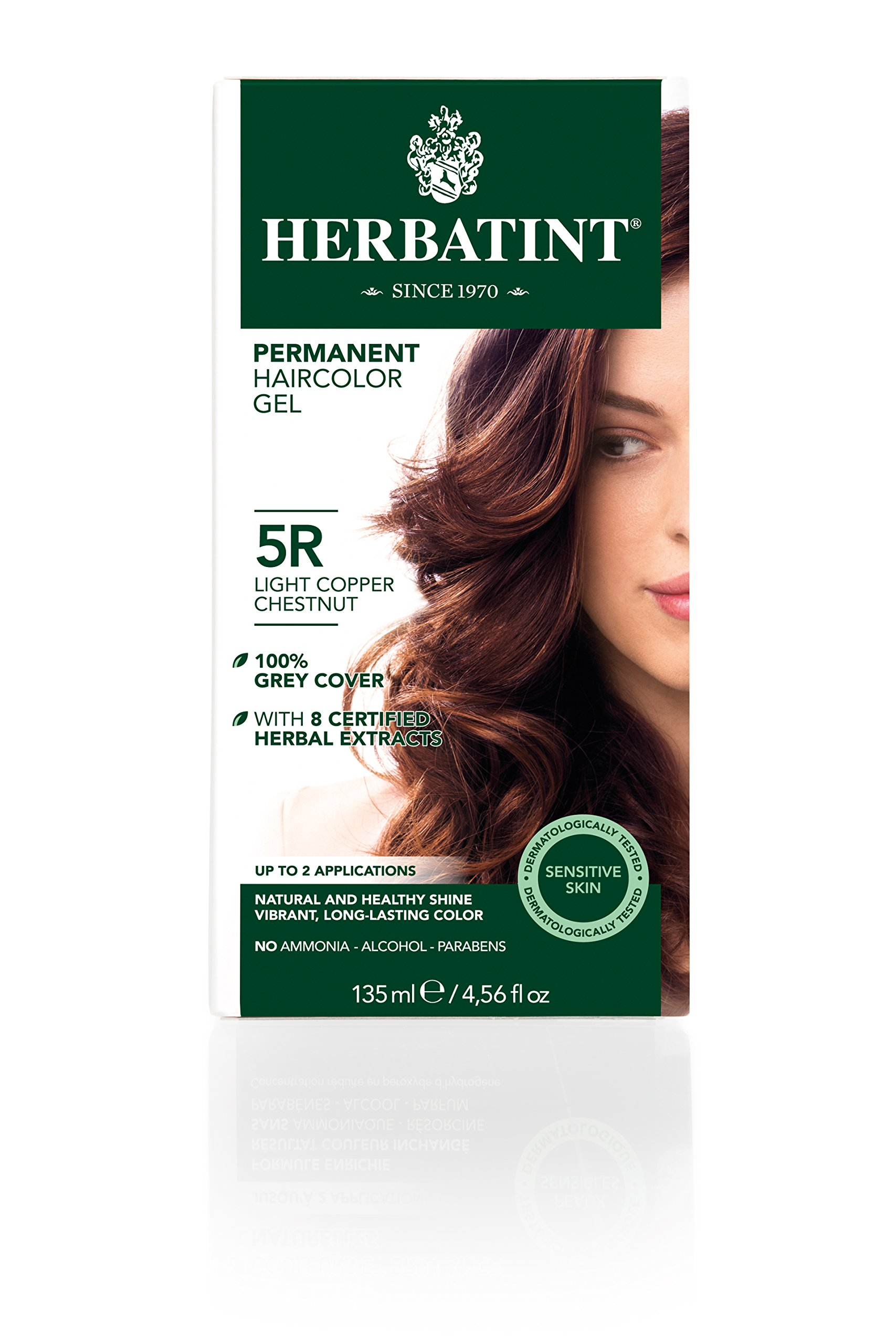 herbatint permanent herbal haircolour gel 4r copper chestnut 135 ml 2pc beauty. Black Bedroom Furniture Sets. Home Design Ideas