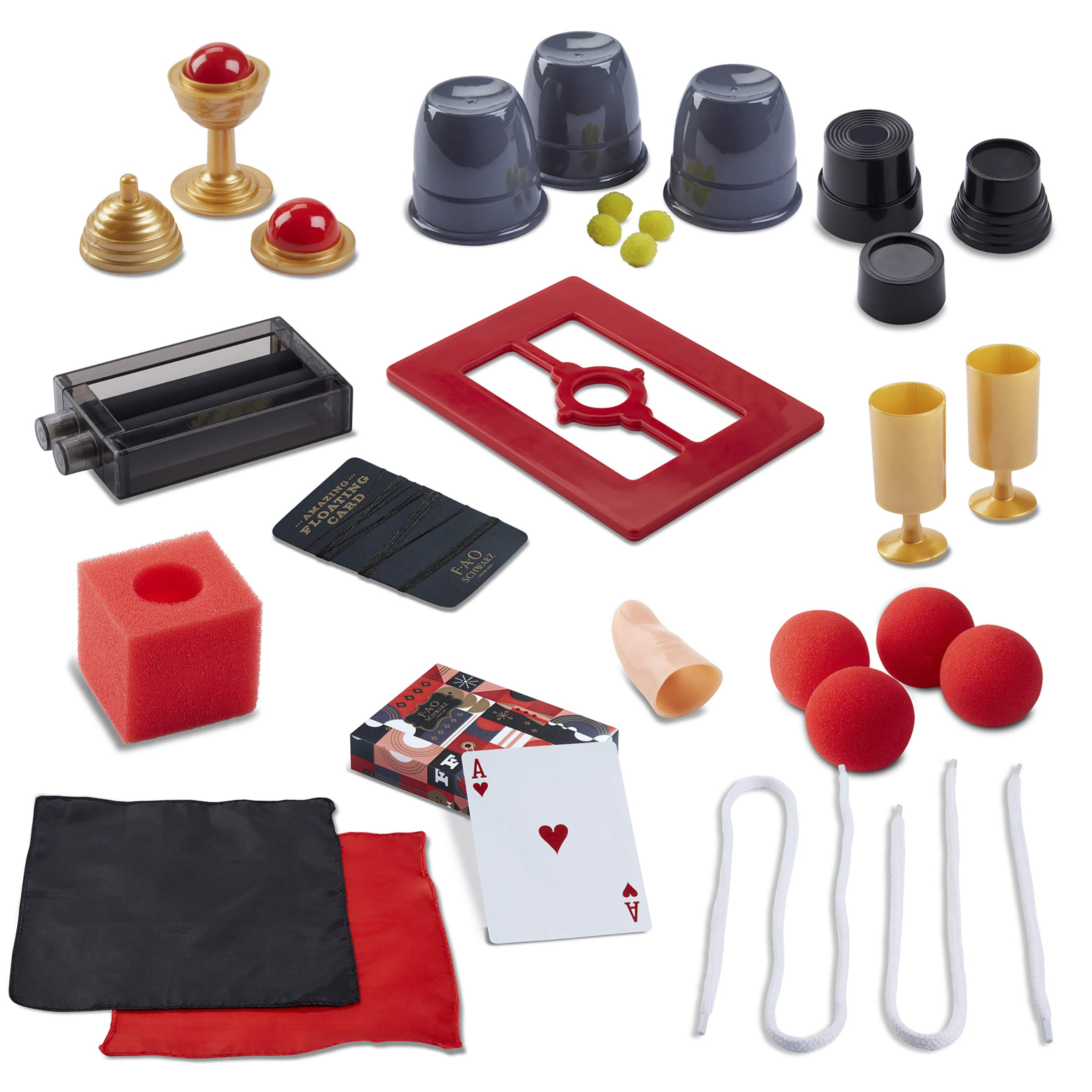 FAO Schwarz Magic Trick Set 28 Piece, 275+ Trick Magician's Bundle for Children - Card Decks, Coin Tricks, Handkerchiefs, & More, Includes Instructions for All Skill Levels, Great Gift for Kids 8+