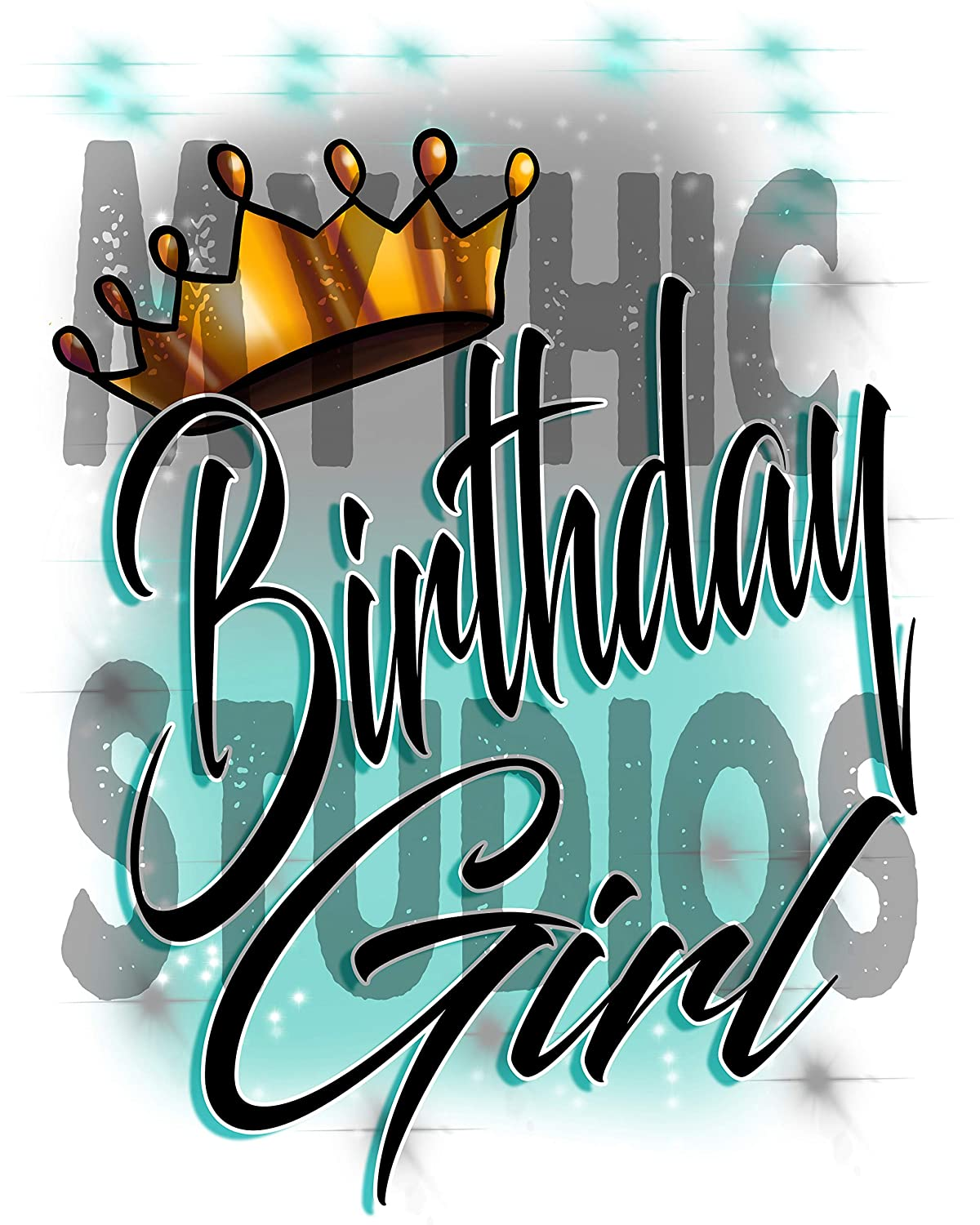 Personalized Airbrushed Birthday Crown Girl License Plate Car Tag