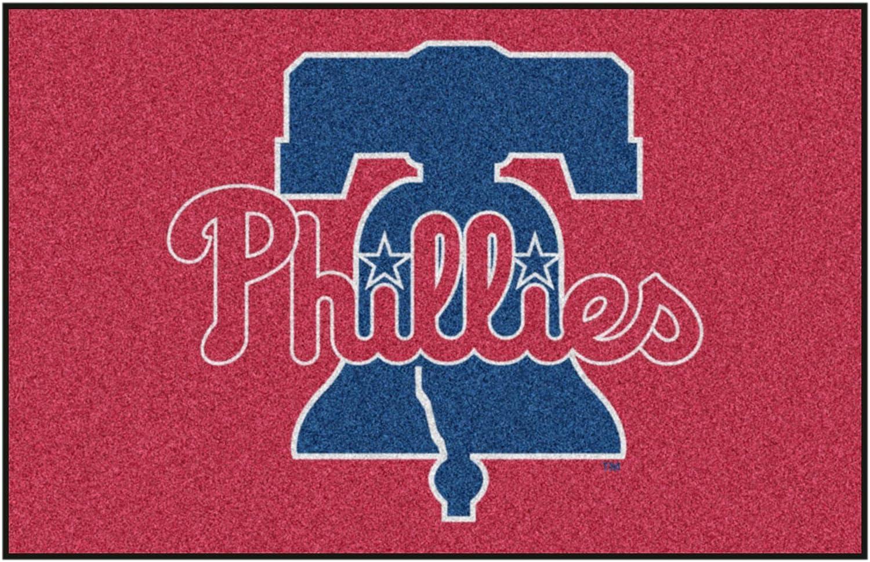 """FANMATS MLB Philadelphia Phillies Nylon Face Starter Rug,19""""x30"""""""