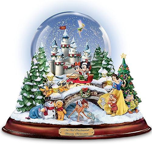 Disney figures Snow Globe Musical Snowglobe Showcasing 13 Classic Characters