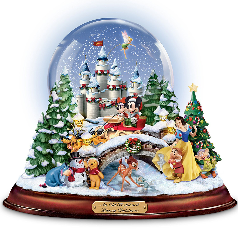 Amazon.com: Disney figures Snow Globe 'Musical Snowglobe ...