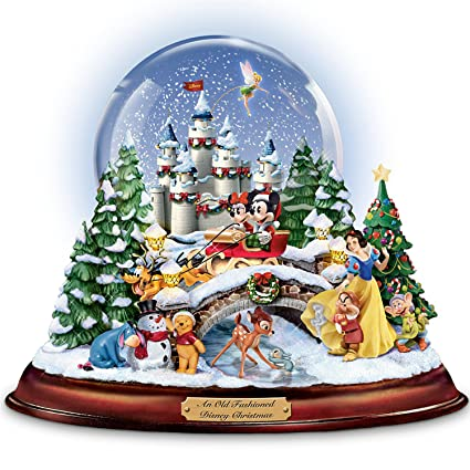 Christmas Snow Globes Australia.13 Character Disney Musical Snowglobe With Lights Christmas Melodies And Swirling Snow By The Bradford Exchange
