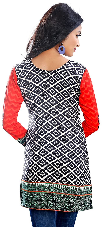 MapleClothing Indische Kurti Frauen Tunika Top Bluse ...