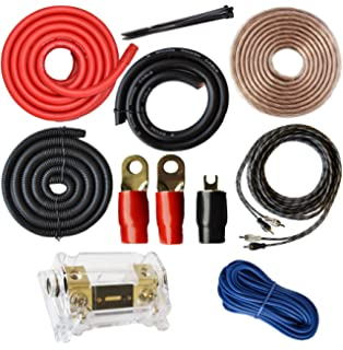 amazon com boss audio cap8 8 farad capacitor car electronics soundbox connected 0 gauge amp kit amplifier install wiring 1 0 ga pro installation cables
