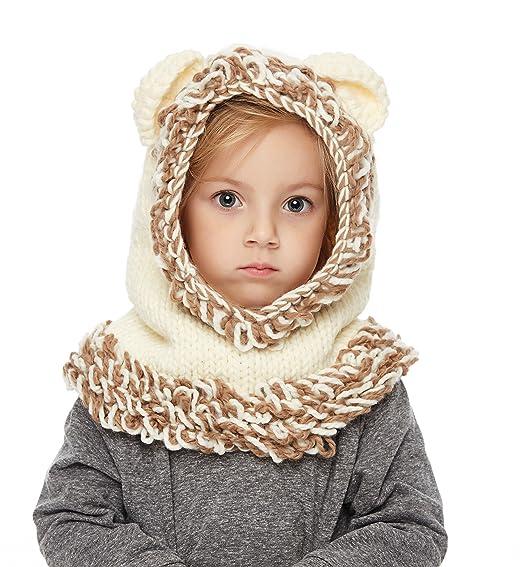 vera qualità nuove foto colori armoniosi Sumolux Cappelli in maglia da Bambini Invernale Berretto Volpe Animale  Caldo Coif Cappuccio Sciarpa