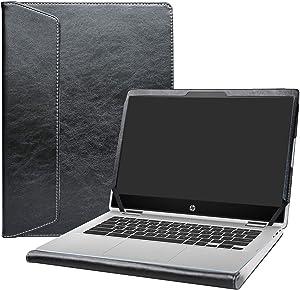 "Alapmk Protective Case Cover for 14"" HP Chromebook x360 14 14-daXXXX/14b 14b-caXXXX/Chromebook Enterprise x360 14E 14 G1/HP Chromebook 14 G6 Laptop[Note:Not fit HP Chromebook 14 G5/14-caXXX],Black"