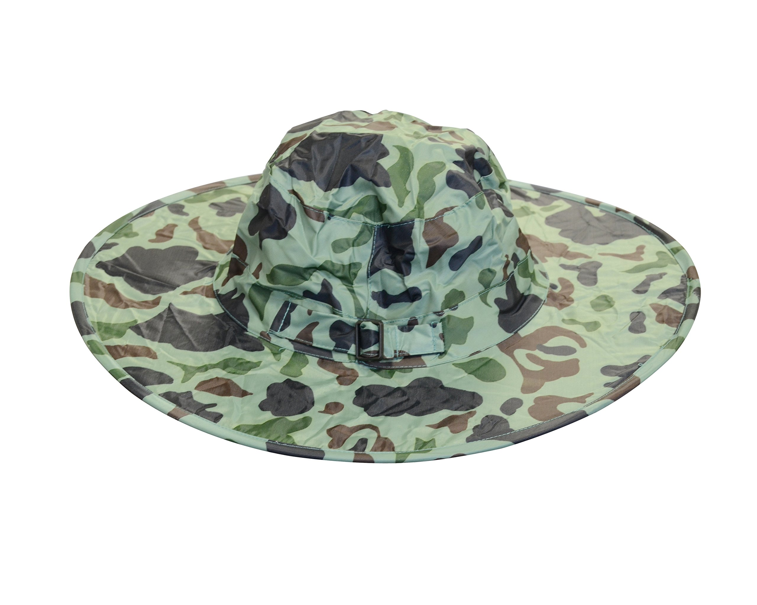Twist-and-Fold Rain Hat, Unisex, 15 inch diameter brim, Camouflage