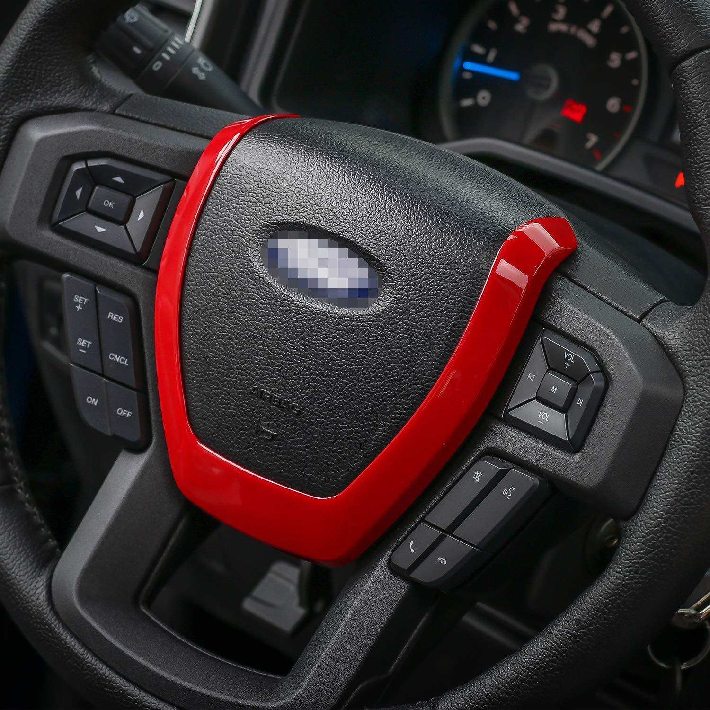 Car Steering Wheel Decoration Frame Cover Trim for Ford F150 2015 2016 2017 Carbon Fiber
