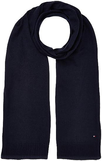 34bace247c30 Tommy Hilfiger Soft Knit (New Odine), Echarpe Femme, Bleu (Tommy Navy