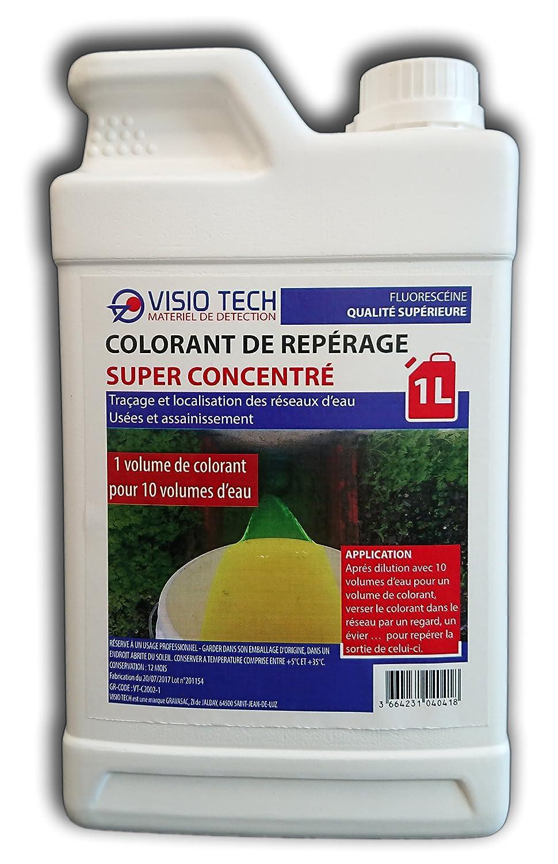 VISIO TECH - Colorant Fluorescéine Super Concentré - 1L