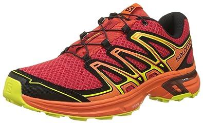 Salomon WINGS FLYTE 2 - Trail running shoes - barbados cherry/scarlet ibis/sulphu