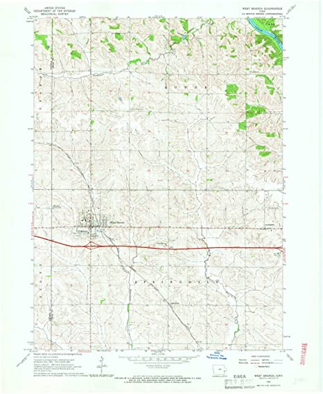 West Branch Iowa Map.Amazon Com Yellowmaps West Branch Ia Topo Map 1 24000 Scale 7 5 X