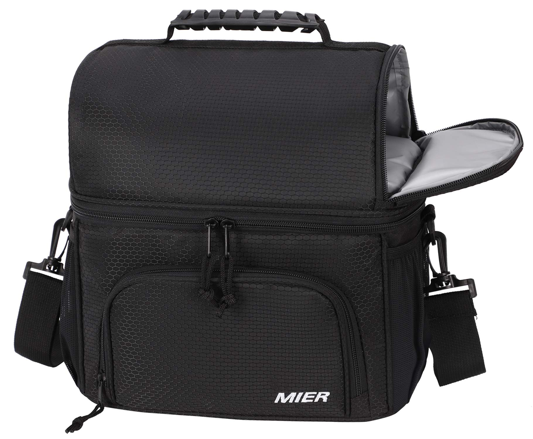 7b5750a29ab3 MIER Dual Compartment Cooler Bag Tote Adult Insulated Lunch Bag for ...