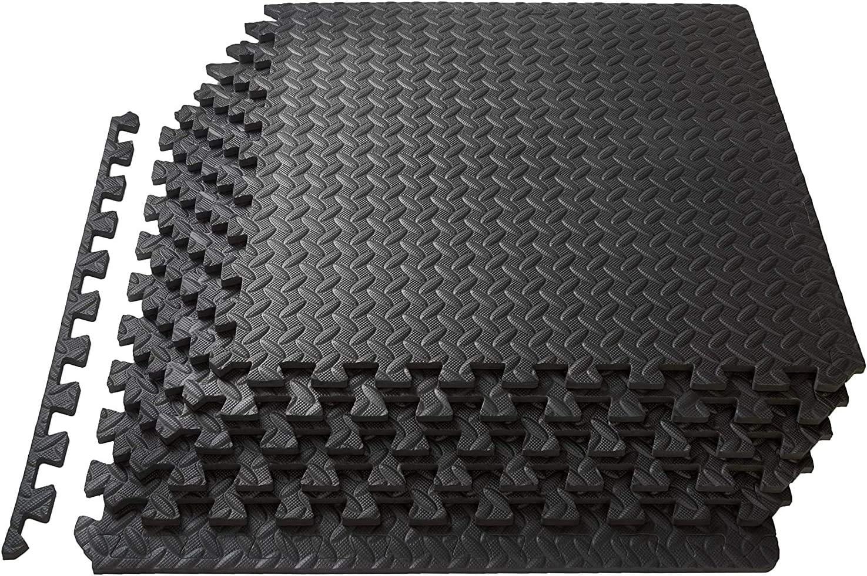 Pack of 6 Tiles Epic Fitness EVA Foam Interlocking Exercise Gym Floor Mat Tiles 1//2 Thick 24 Square Feet