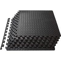 Swonuk Beschermende Vloermatten Zachte Foam Tegels Vloerbeschermingsmat Fitness voor Sport Workout (12 puzzelmatten, elk…