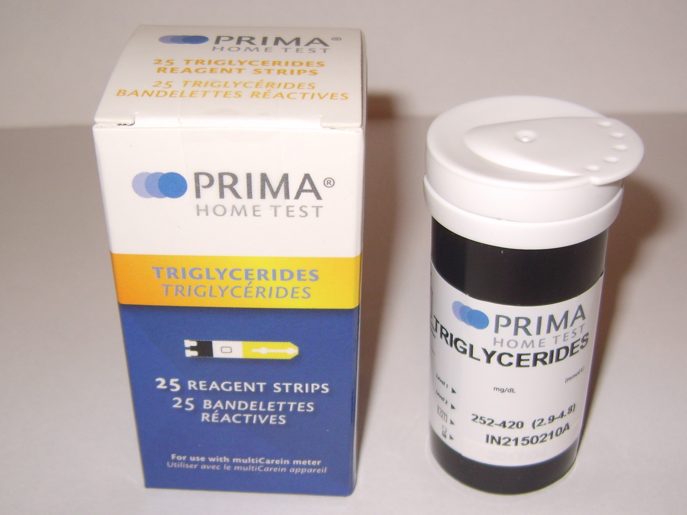 Prima Triglycerides Test Strips (Pack of 25 pcs) by Biochemical Systems International