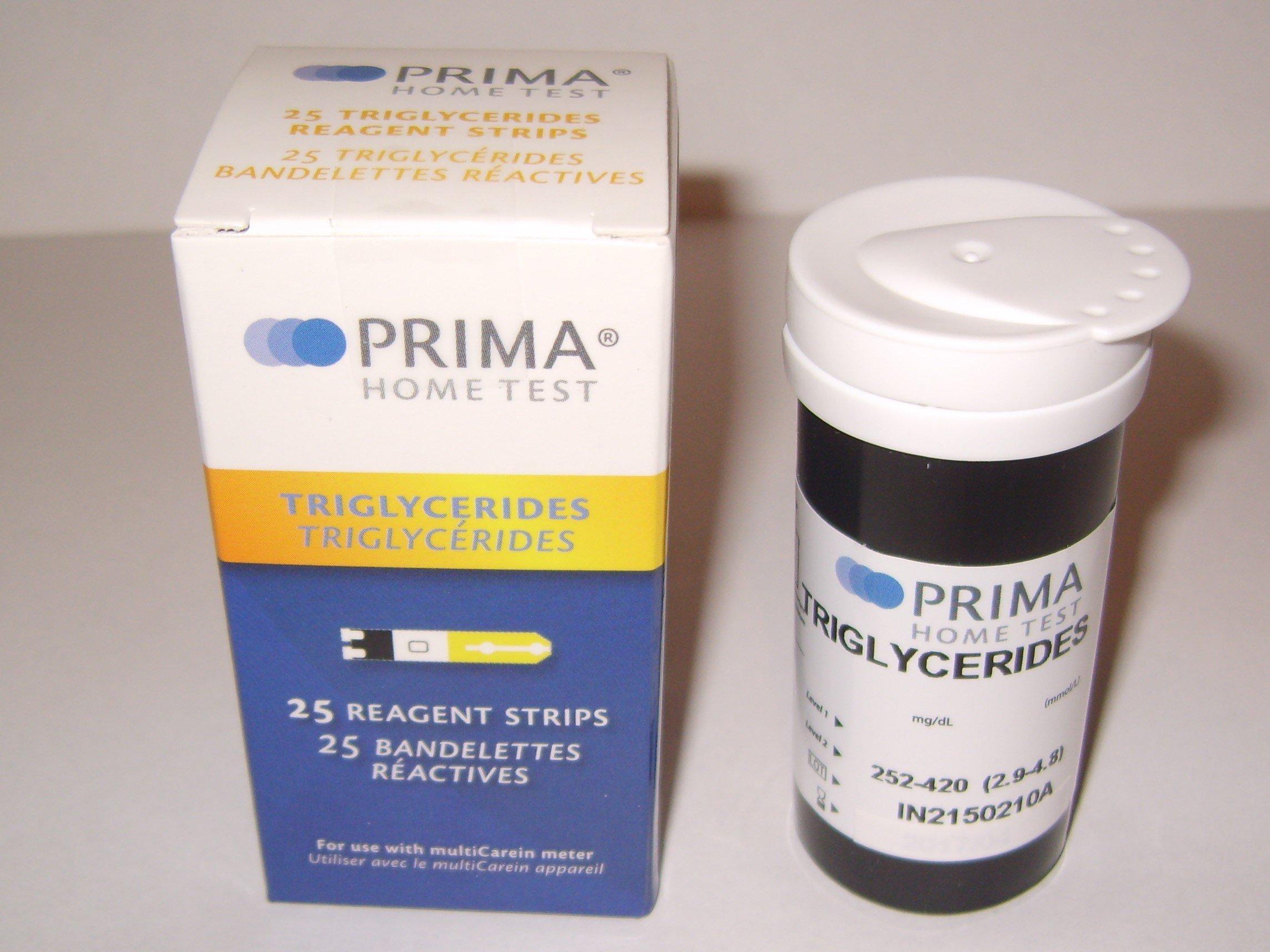Prima Triglycerides Test Strips (Pack of 25 pcs)