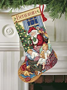 "Dimensions Gold Collection Sweet Dreams Stocking Counted Cross Stitch Kit - 16"" Long"