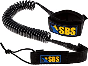 NONMON Surfing Leash Coiled SUP Leash Premium Design for Flat /& Open Water Stand