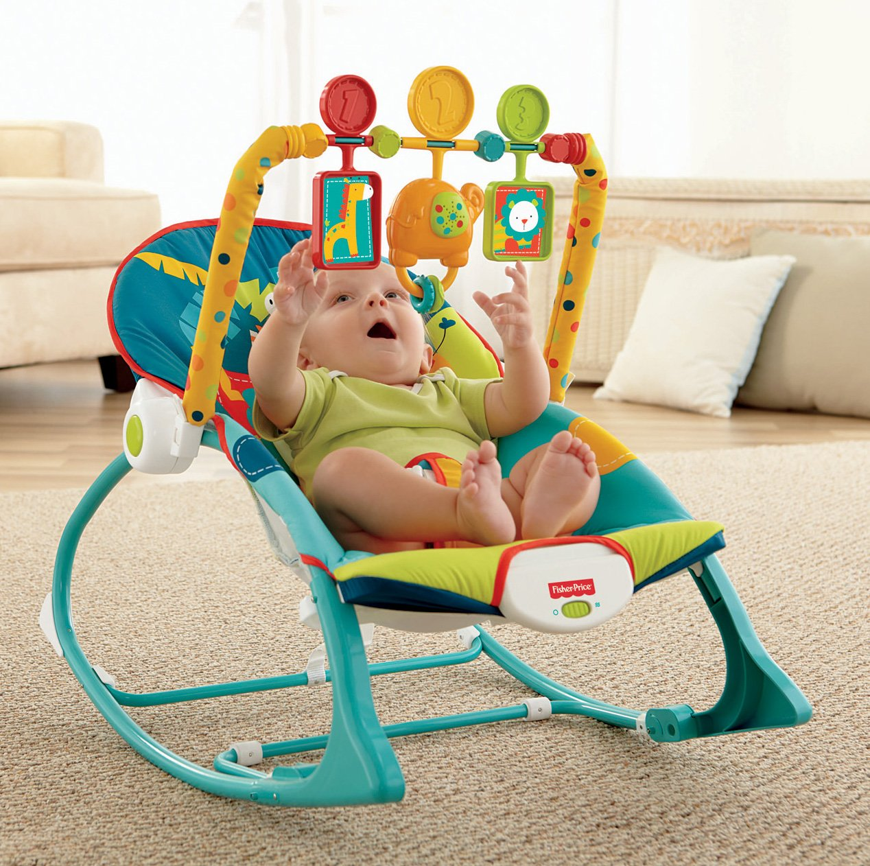 Baby rocking chair fisher price - Amazon Com Fisher Price Infant To Toddler Rocker Dark Safari Infant Bouncers And Rockers Baby