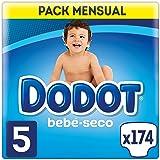 Dodot Bebé-Seco - Pañales para bebé con canales de aire, 11-16 kg, Talla 5 (11-17 kg) - 174 Pañales
