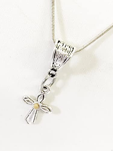 Amazon com: Christian Necklace, Mustard Seed Cross Necklace