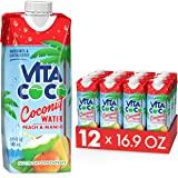 Vita Coco Coconut Water, Peach & Mango - Naturally Hydrating Electrolyte Drink - Smart Alternative to Coffee, Soda, and Sport