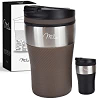 Milu Thermobecher Isolierbecher Kaffeebecher to go - 210ml 100% Auslaufsicher - Trinkbecher aus Edelstahl - Autobecher doppelwand Isolierung - Thermo Becher - Travel Mug