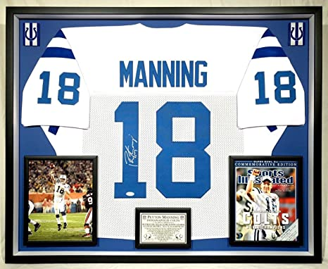 new product f7a2f 2fb7a Deluxe Framed Peyton Manning Autographed Signed Indianapolis ...