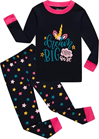 little girls star pajamas toddler children christmas pjs kids cotton sleepwear set size 3