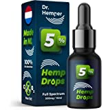 Dr Hemper 500mg (5%) Full Spectrum Hemp Drops Extract | Co2 Extracted | Help Relieve Pain, Anxiety & Stress - Made in Netherlands