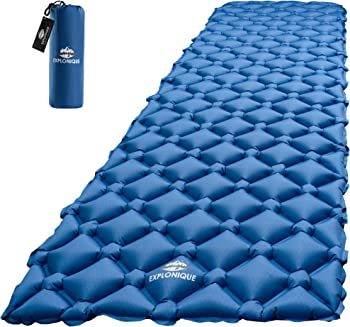 Explonique Camping Air Mattress, Ultralight, And Compact Sleeping Pad, For Traveling, Backpacking And Hiking