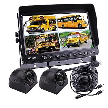 Zhiren - Sistema de cámara de seguridad para coche, 9 pulgadas, con pantalla de