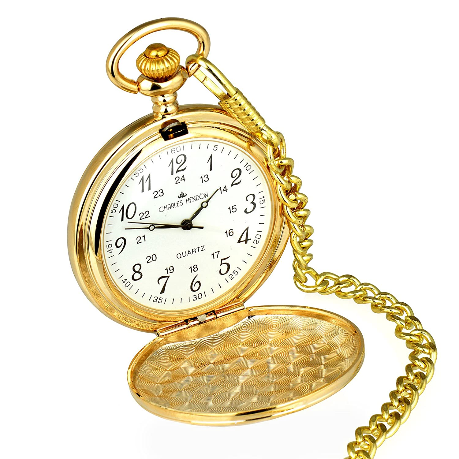 Mens pocket watches with chain images mens gold pocket watches gifts - Personalised Engraved Gold Pocket Watch In A Velveteen Pouch Ideal Men S Gift Free Engraving Amazon Co Uk Jewellery