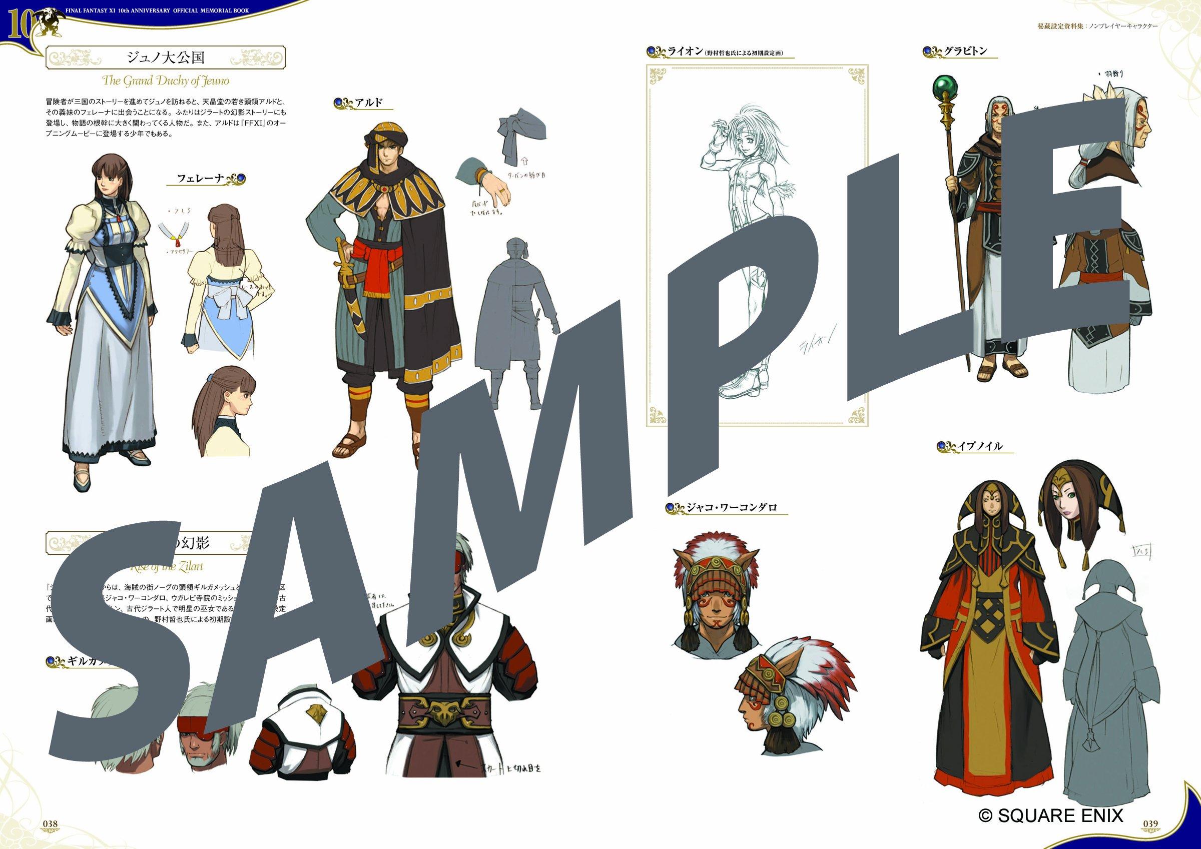 Final Fantasy Xi 10th Anniversary Official Memorial Book a