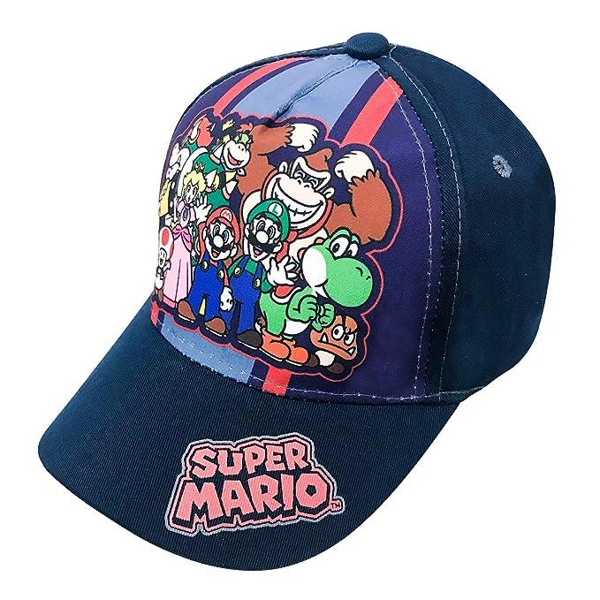 65c3bd9859 Nintendo Super Mario Family Navy Baseball Cap – Size Boys  4-14  6014