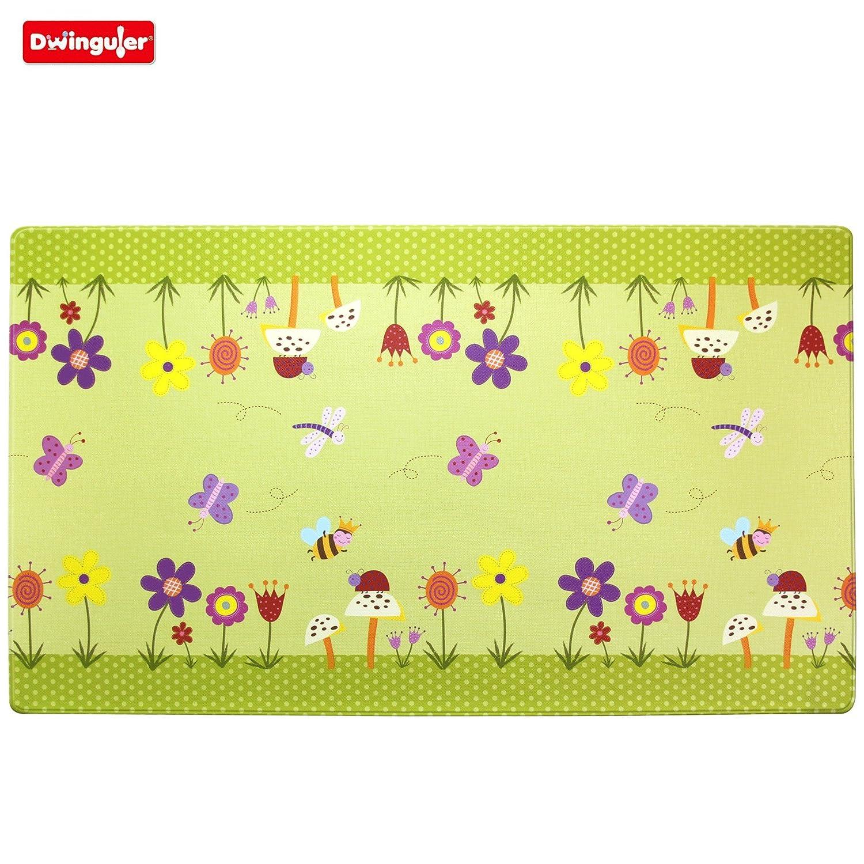 Dwinguler Eco friendly Kids Playmat Garden Delight Green