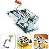 Todeco - Machine à Pâtes, Machine pour Faire des Pâtes - Epaisseur de coupe: 6 réglages d'épaisseur de 0,5 à 3 mm - Matériau: Acier inoxydable - Spaghettis, tagliatelles, lasagnes
