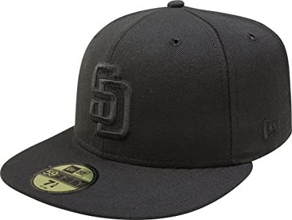 9c0763513 Image Unavailable. Image not available for. Color: New Era 59Fifty San  Diego SD Padres Blackout Fitted Hat ...