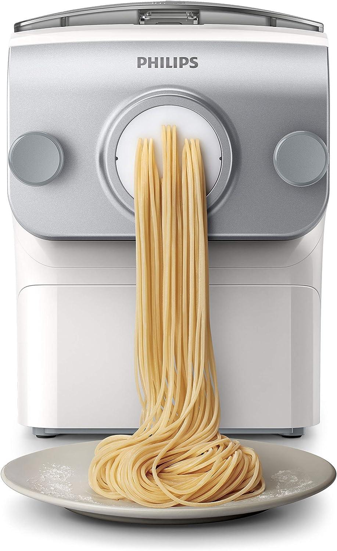 Philips Máquina automática de pasta 4 tipos de pasta, 400 g blanco: Amazon.es: Hogar