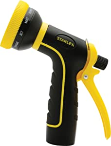Stanley Garden BDS6703 Accuscape 10-Pattern Adjustable Nozzle, Black/Yellow