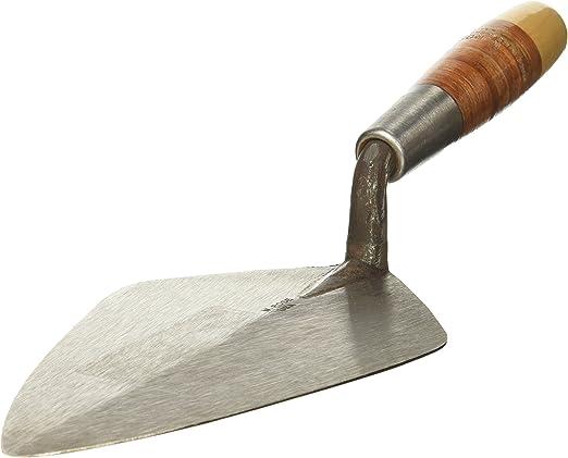 11-Inch Rose Philadelphia Brick Trowel with Leather Handle Kraft Tool RO310-11 W